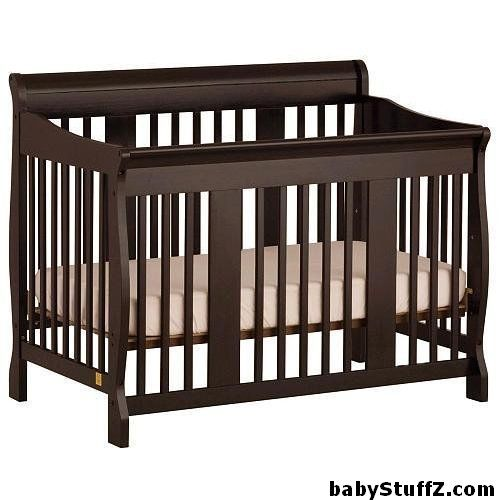 9 Best baby cribs in 2015 for your baby's nursery furniture - Stork Craft Tuscany 4-in-1 Convertible Crib Black #baby #babyCribs #bestBabyCribs #babyCribReviews #babyProducts #nurseryFurniture