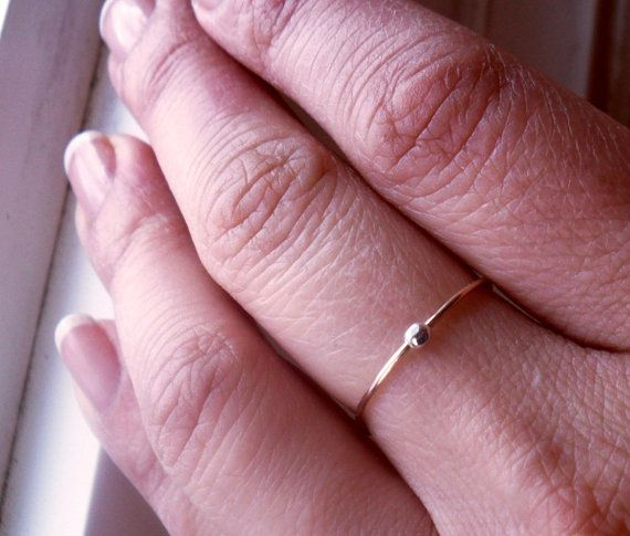 One Simply Skinny Spinnerette Rustic Organic 14K Gold Filled Ring by TheLovelySmith - perfect for ADHD and anxiety!