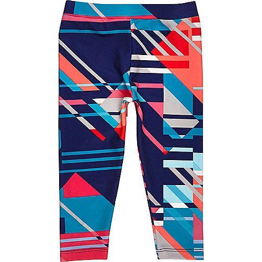Bright geometric print Adjustable waistband
