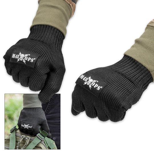 M48 Cut Resistant Kevlar Gloves - Black | True Swords