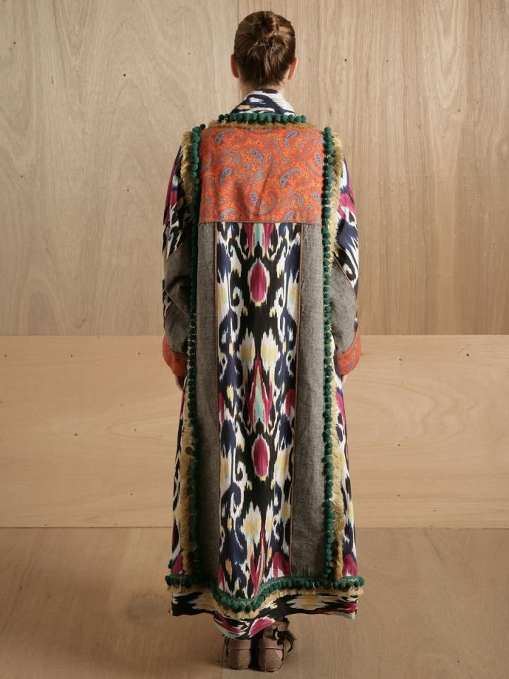 Swan around like a 1970's artists in this ethnic ikat coat by LN-CC.com Clothing. A find courtesy of Caitlin over at Wanderlustings - a source of beautiful inspirations and a place to buy Caitlin's unique jewellery creations. Go on, pay her a visit! http://www.wanderlustings.com/ www.wandering-threads.com