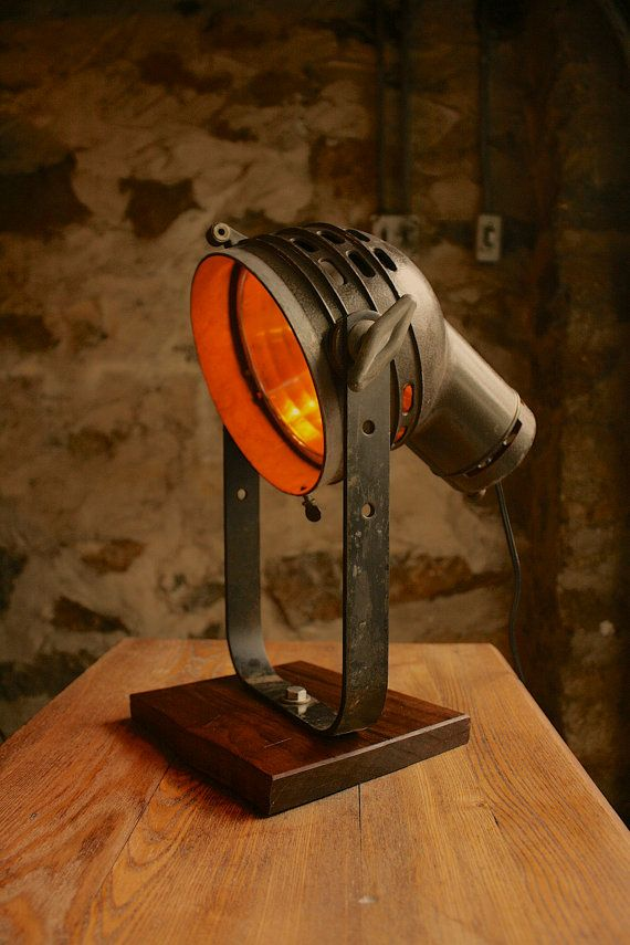 Industrial Light Lighting OOAK Vintage Spotlight by Luke Lamp Co.