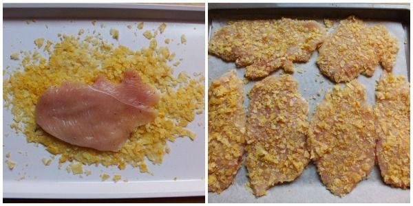 Le fettine di petto di pollo alle patatine sono una ricetta sfiziosissima che piacerà a tutti proprio per la particolare panatura a base di chips.