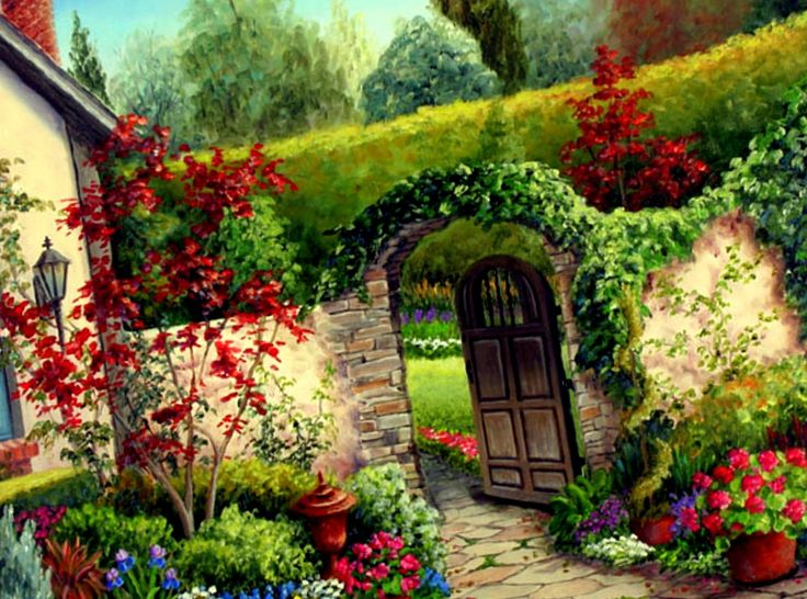 Flower Garden Landscape Click image for more detailsThis is