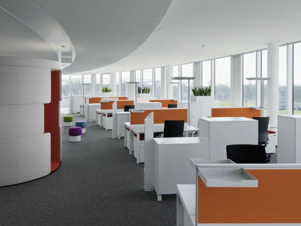Temporary partition in modern office design contemporary for Modern interior design for office