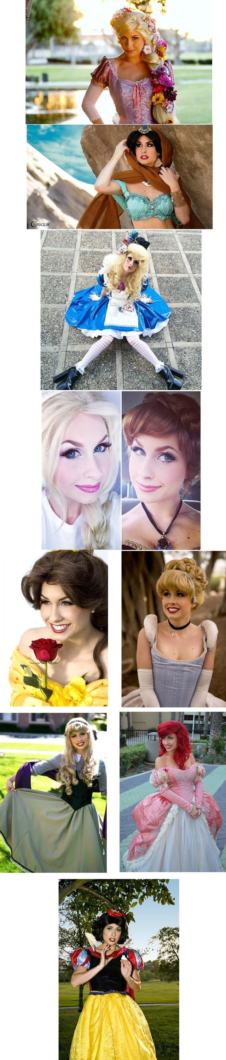Rapunzel, Jasmine, Alice, Elsa & Anna, Belle, Cinderella, Aurora, Ariel, and Snow White | All Characters Cosplayed by Traci Hines