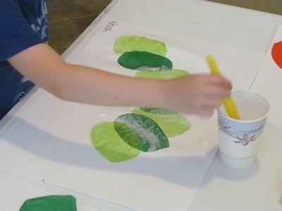 Tissue paper caterpillars   Teach Preschool