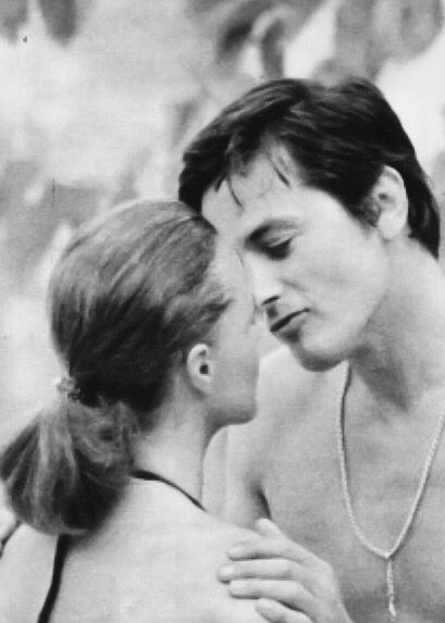 "Schneider continued starring in films with Alain Delon. On a break from filming after marriage and motherhood. ""Just then,"" she later remembered, ""Alain called me up and asked if I exclusively had husband and children on the mind or would I be interested in doing a movie""."