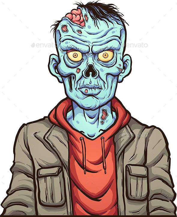 Cartoon Zombie in 2020   Zombie cartoon, Zombie drawings ...