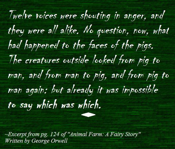 animal farm by george orwell 4 essay Essays and criticism on george orwell's animal farm - analysis.