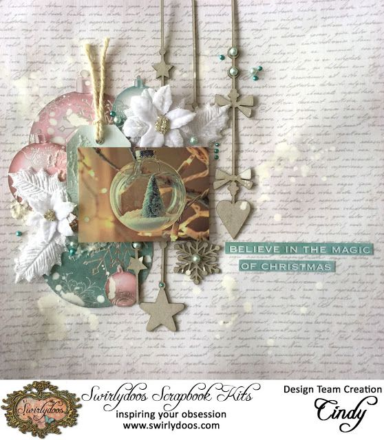 Paper Kaisercraft Silver bells collection Joy and Bauble Blog Hop Swirlydoos December