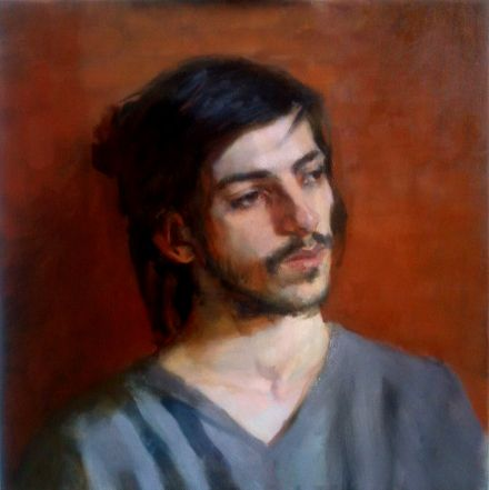 Oil portrait at the russian academy in florence. More at www.karstenhoop.com.