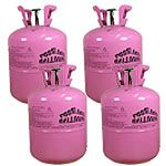 Lille Helium Gas Cylinder uden Balloner - Pakke med 4