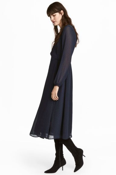 Wrap dress - Dark blue - Ladies | H&M 1