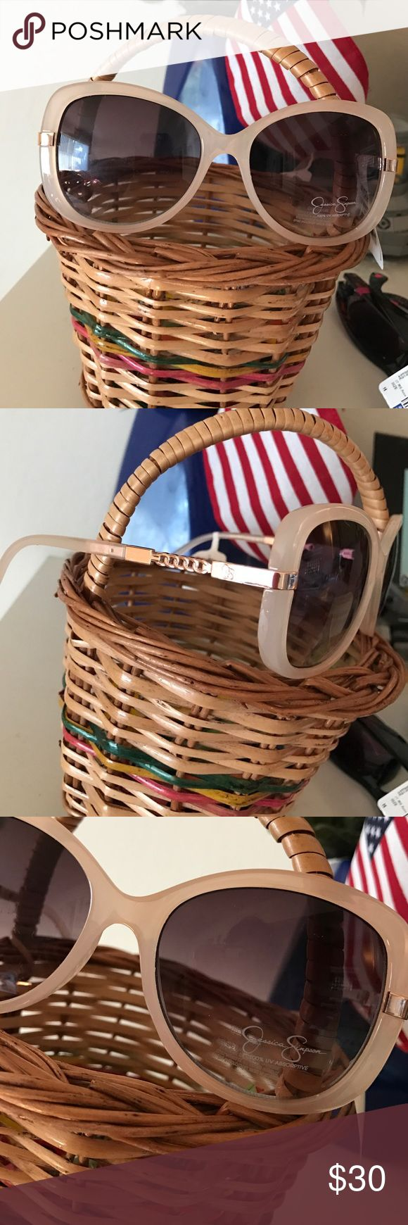 NWT Jessica Simpson glasses Brand new sunglasses in gorgeous tan color... supercool and 100% UV protected. No trades..offers acceptable Jessica Simpson Accessories Glasses
