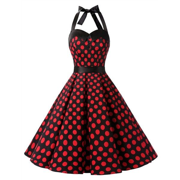 Dressystar Vintage Polka Dot Retro Cocktail Prom Dresses 50's 60's... (£18) ❤ liked on Polyvore featuring dresses, white bandage dress, evening cocktail dresses, white evening dresses, cocktail prom dress and white prom dresses