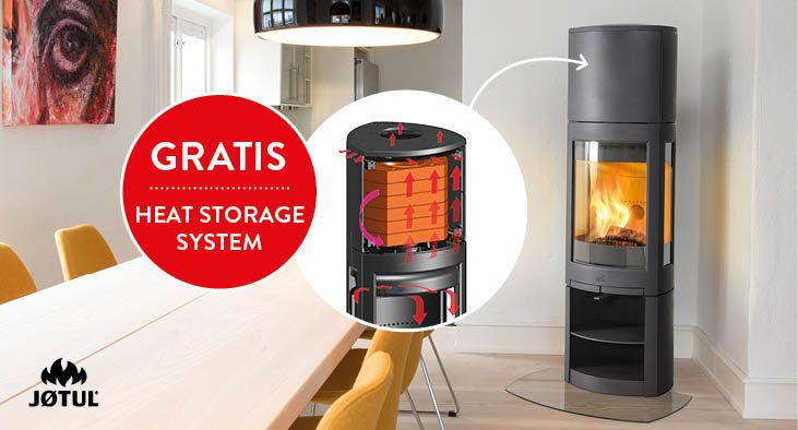 Jotul F 371 High Top Advance houtkachel met Heat Storage System (warmhoud stenen) in de extra hoge top - ACTIE Heat Storage System twv € 325,- GRATIS van 1 april t/m 31 mei 2017