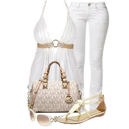 White georgeous outfit