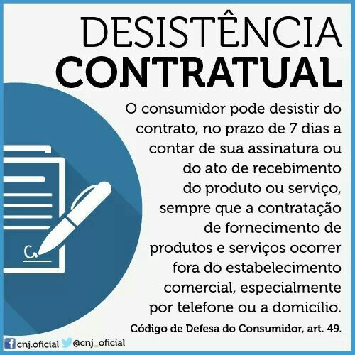 Desistência Contratual
