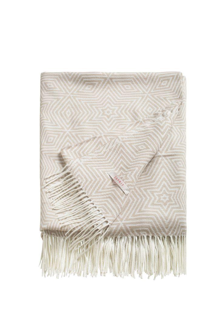 Esprit / Zachte, omkeerbare deken met franjes