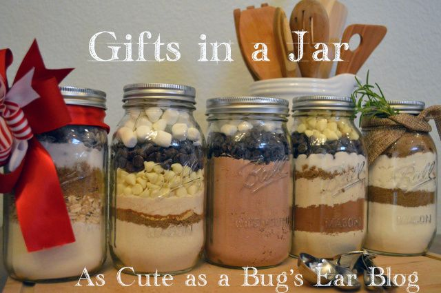 5 DIY Holiday Baked Goods in a Jar. Gifts in a Jar for the holidays, hostess gifts, and teacher appreciation days. Five easy to make recipes that look as good as they taste. There are five different cookie, brownie, AND cake recipes that are sure to satisfy your sweet tooth and delight those that you gift these too. As Cute as a Bug's Ear - Adventures in Parenting