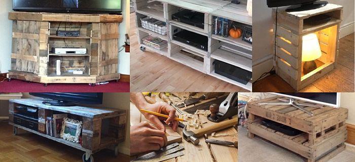 17 mejores ideas sobre mesas de televisores en pinterest - Muebles hechos con pale ...