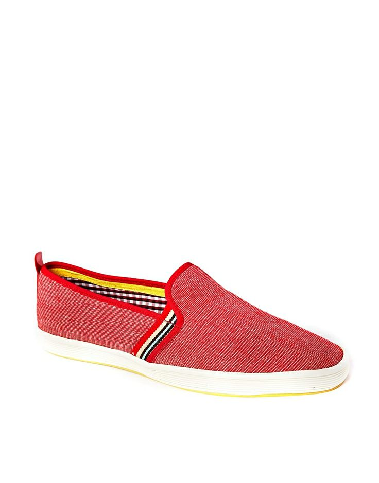Fish & Chips By Base London Slip-On Plimsolls