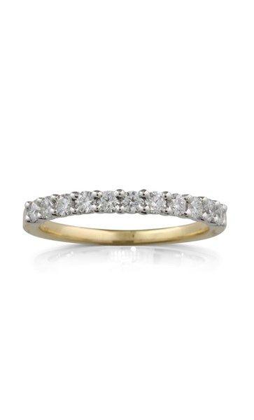 18ct yellow gold .52ct  claw set diamond ring