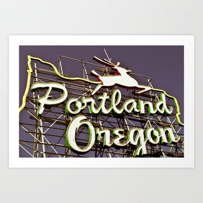 Portland Art Print by tracygrahamcracker - $15.00