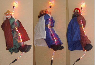 Reyes Magos trepadores de 120 cms En Tubo Luminoso  #Grandetalles