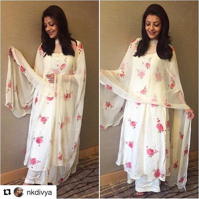 #Repost #throwback @nkdivya with @repostapp  ・・・  Pretty Pretty @kajalaggarwalofficial in @picchika for Mahashivratri at Isha foundation in Coimbatore yesterday!