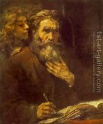 Evangelist Matthew and the Angel 1661 by Rembrandt Van Rijn