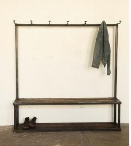"""shaker style entry bench and coatrack. If the phrase """"beautiful in it's simplicity"""" was ever needed it is now."""