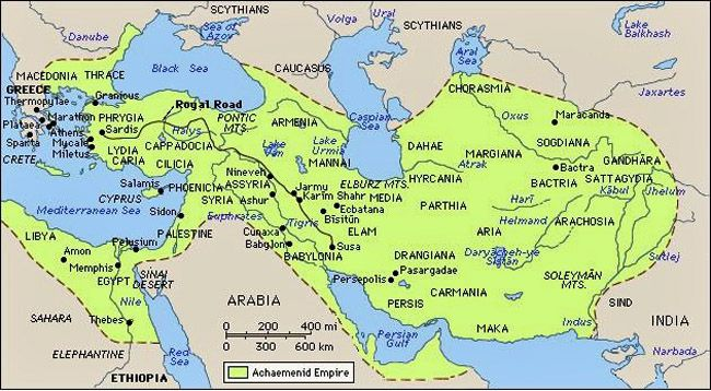 Persian Empire during Xerxes reign