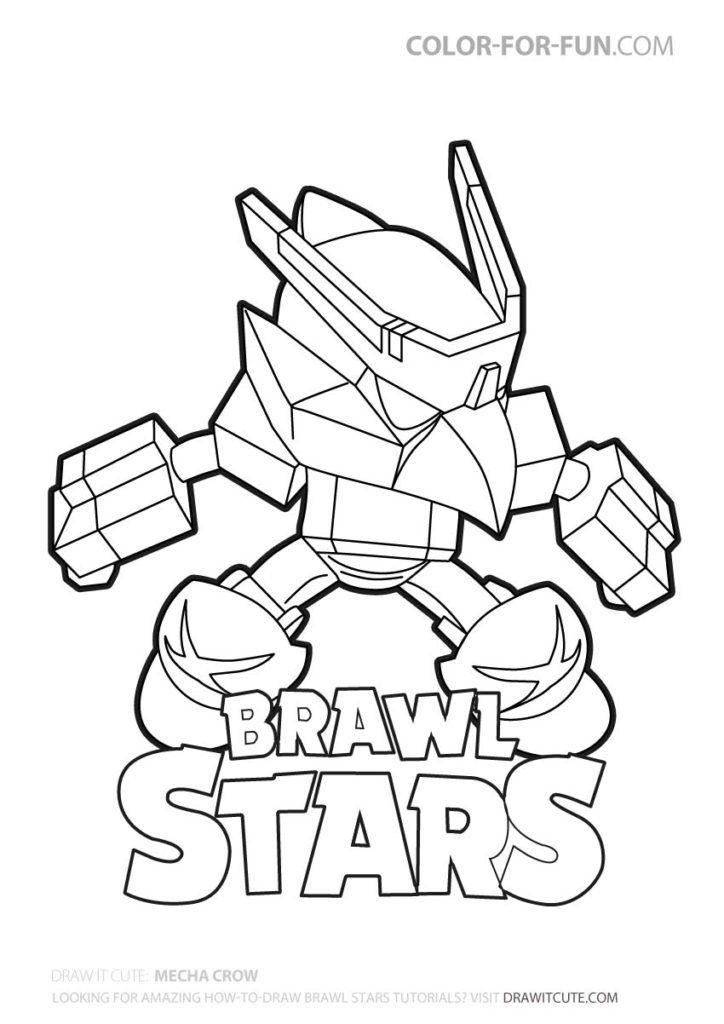 mech crow  brawl stars coloring page brawlstarsgame