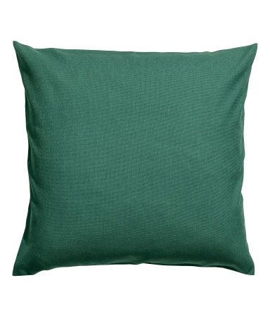 Dark green. Cushion cover in cotton canvas with a concealed zip.
