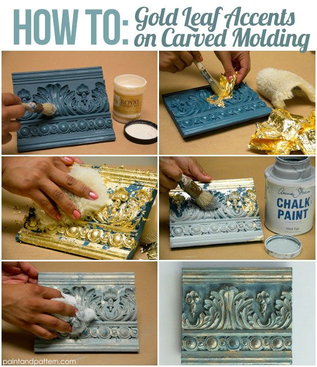 4 Chalk Paint Techniques for Carved Surfaces :: gild w/gold, Hometalk