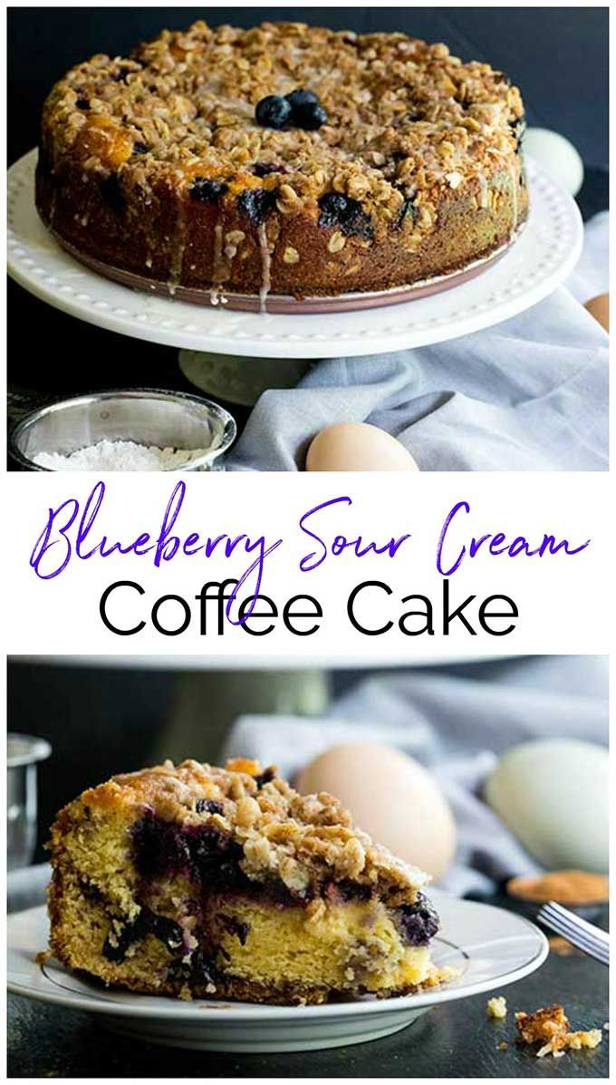 Blueberry Sour Cream Coffee Cake Recipe Coffee Cake Recipes Sour Cream Coffee Cake Coffee Cake
