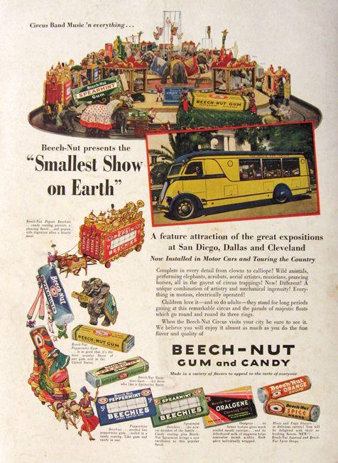 1936 Beechnut Gum & Candy Ad