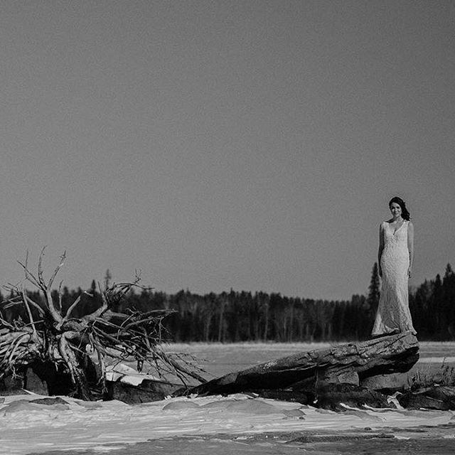 Rèanne at Falcon Trails Resort in Manitoba, Canada.  #wedding #canada #winterweddings #bridalportrait #bride #winnipegweddings #inspiraiton #weddinggown #blfstudios #weddingtips