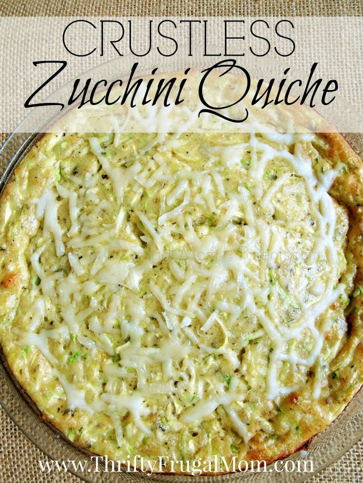 Crustless Zucchini Quiche (an inexpensive, meatless dish) | Zucchini ...