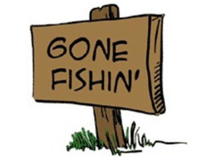 Gone fishin atheism signs and go to sleep for Cats go fishing