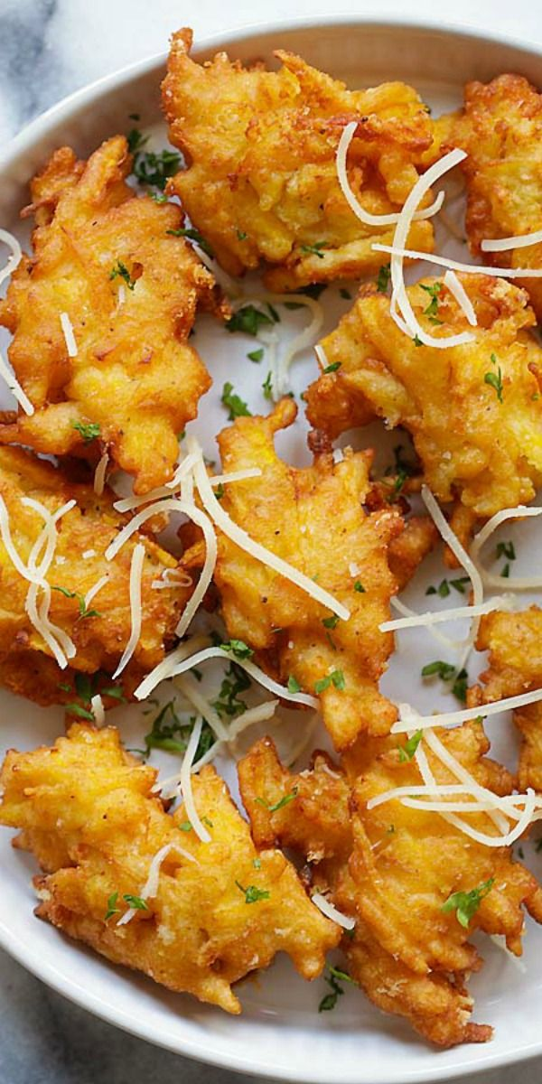 Crazy delicious pumpkin fritters recipe with Parmesan cheese. Easy, fail-proof and takes only 20 min   rasamalaysia.com