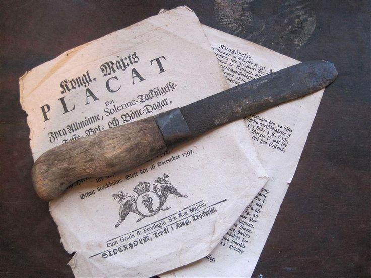 Mycket bra patina på den här : kniv - gammal - på Tradera.com -