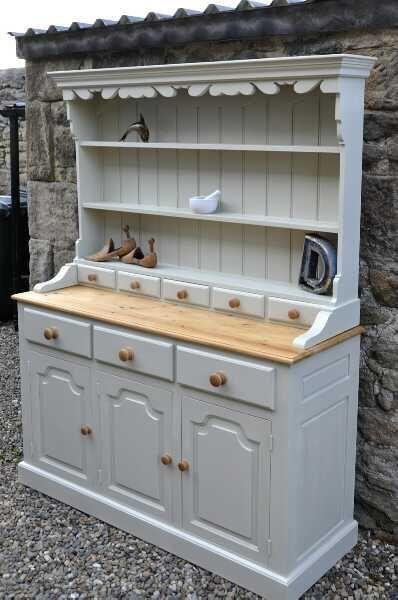 Shabby chic Welsh Dresser by beanocartoonist, via Flickr