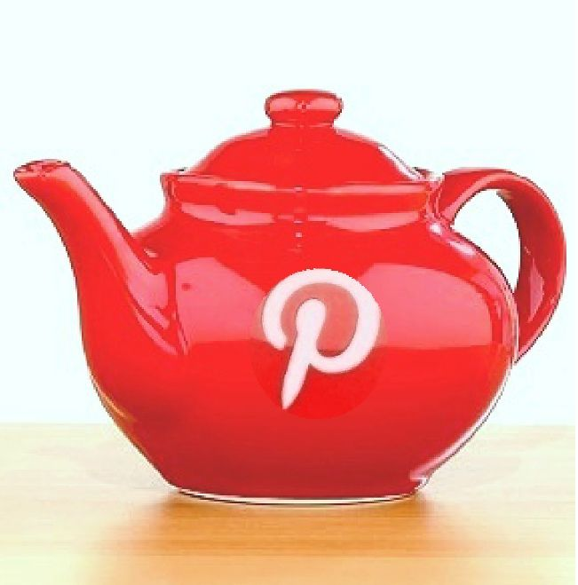 Love Pinterest? Like tea? Enjoy the best of both worlds with this pot.