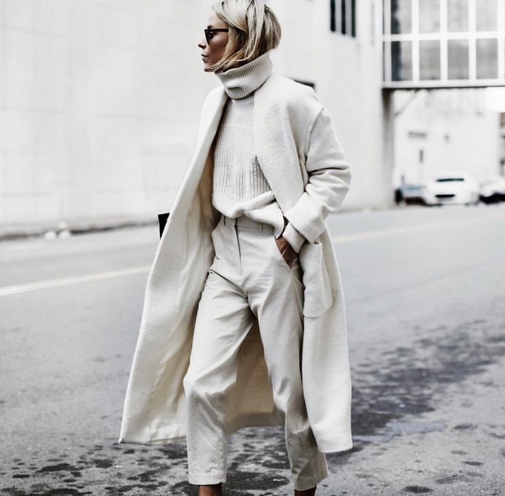 off-white turtleneck, trousers and trench – #offwh…