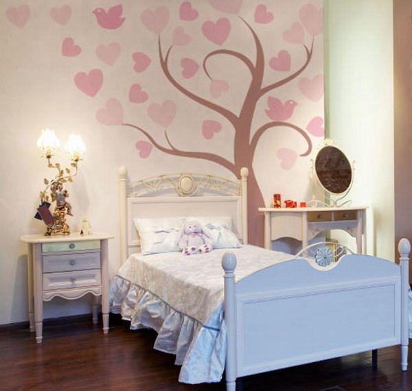 girls bedroom murals art girl bedroom wallsbedroom ideasbedroom - Bedroom Art Ideas Wall