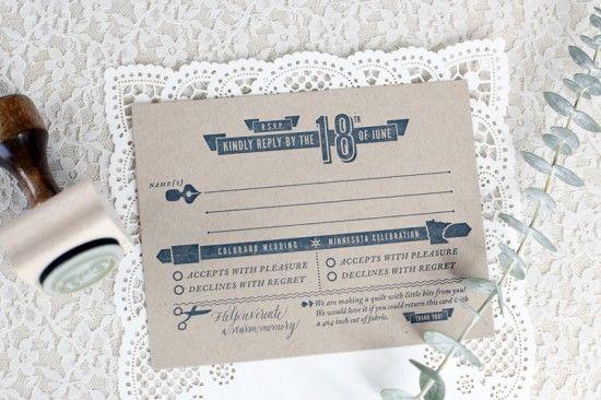 Watercolour wedding stationery