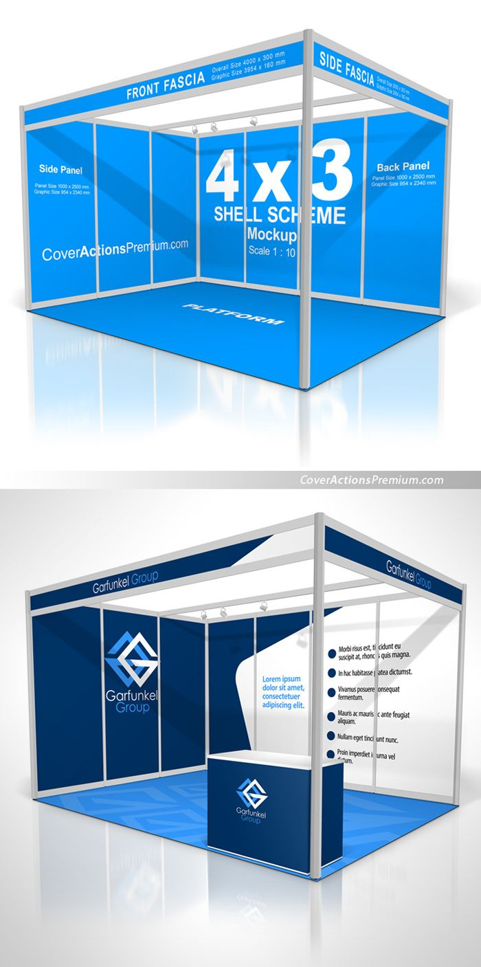 Shell Scheme Booth Mockup Cover Actions Premium Mockup Psd Template Trade Show Booth Design Exhibition Booth Design Booth Design Exhibition